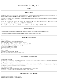 Medical Doctor Resume Example Sample