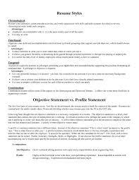 Resume Opening Statement Sample Objective For Resume Resume Samples