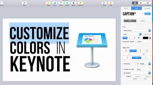 Customize Colors In Keynote