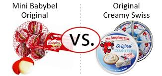 nutrition faceoff the laughing cow mini babybel vs original creamy swiss wedges