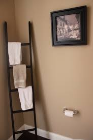 I'm thinking of decorating a couple other places in our house using ladders  to perform other functions.