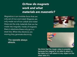 If there is electricity acting around a magnet the electricity will  generate a field, so the magnets can't get to the electric point.