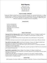 Football Coach Resume Sample Best of Football Coaching Resume Samples Shalomhouseus