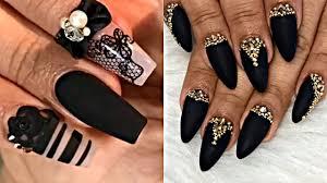Best Black Matte Nails Manicure Tutorial - Bling Nail Art ...