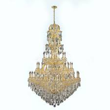 worldwide lighting maria theresa 60 light gold with clear crystal chandelier