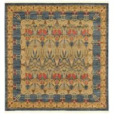 unique loom heritage collection navy blue 6 ft square area rug 6 x 6x6 square rug square area rugs 6a6 6
