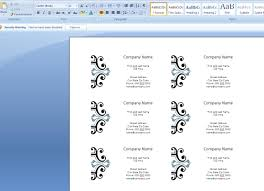 How To Create Business Cards In Microsoft Word 2007