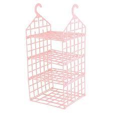 3 layer hanging wardrobe storage rack clothes underwear holder closet organizer shelves