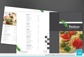 Half Fold Brochure template for Italian restaurant. Order Custom ...
