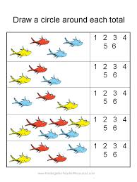 Printable worksheets of math for kindergarten   Download them or print