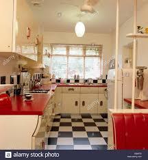 Kitchen Floor Units Black White Chequerboard Flooring In Yellow Kitchen With