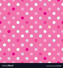 colorful tile background pink polka dots wallpaper vector image