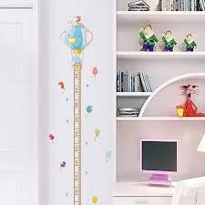 Cat Height Chart Us 2 97 7 Off Cartoon Animals Elephant Cat Height Measure Wall Stickers For Kids Rooms Height Chart Ruler Wall Decals Home Decor Poster Mural In