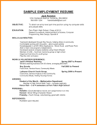 Job Resume Examples 100 work resumes examples agenda example 30