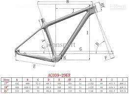 29er carbon mountain bike frame 2 inside cable route design 3 available sizes 17 19 21 4 29er mtb carbon frame