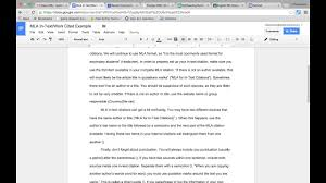 Using Mla Format For In Text Internal Citations