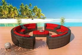 round patio furniture outdoor furniture round sectional set 6 round patio furniture sectional sofa set in bronze hibiscus outdoor furniture sectional