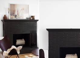 black painted brick fireplaces the area above the fireplace has been an ongoing struggle