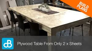 how to build a table from only 2 sheets of plywood by soundblab you