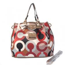 Coach In Monogram Medium Brown Satchels BWN