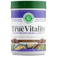 Green Foods Corporation <b>True Vitality Plant</b> Protein Shake with DHA ...