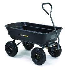 gorilla carts 4 cu ft plastic yard cart