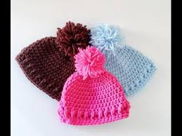 Baby Beanie Crochet Pattern Amazing Simple And Easy Crochet Baby HatBeanie YouTube