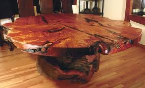 tree trunk furniture for sale. Tree Trunk Furniture Rustic Western Dining Room Table With Stump Base  For Sale A