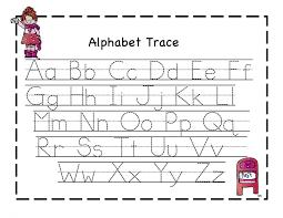 Math Worksheets Tracing Letters For Kindergarten Best Letter Ideas ...
