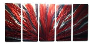 red and black wall art metal wall art decor abstract contemporary modern radiance large red black red and black wall art  on grey red wall art with red and black wall art red and black wall art black and red wall art