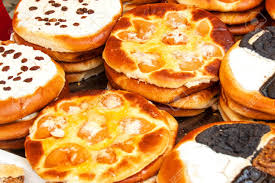 Fresh Pastries For Sale In A Bakery Sales Of Various Types Of