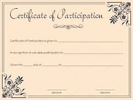Certificate Of Participation Templates Certificate Of Participation Template Coral Themed