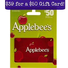 this 50 00 applebee s gift card is marked down to just 39 00 today on amazon head here to view this gift card deal