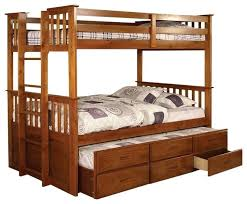 bunk bed with trundle and drawers university oak twin over twin size bunk bed trundle and bunk bed with trundle and drawers