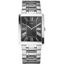 guess watches are hot for summer shade station blog the boulevard guess watch watch for men features a chic brown leather strap a croco style effect finish