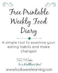 Free Printable Food Diary Look Were Learning