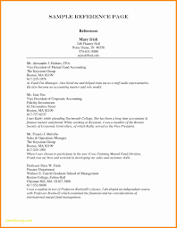 Example Reference Page References Resume References Format For