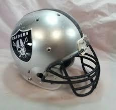 Raider Youth Helmet Sizing Chart Details About La Oakland Raiders Full Size Football Helmet Schutt Youth Replica Nfl