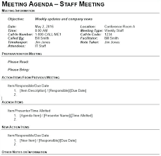 Minutes Document Template Team Meeting Agenda Ates Free Sample Example Format Executive