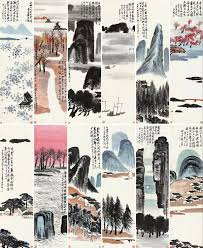 set of 12 ink brush paintings by qi baishi sold at poly auction beijing for