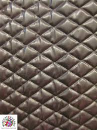 Leather Brown Quilted Upholstery Vinyl Foam Backing Fabric 52/56 ... & Leather Brown Quilted Upholstery Vinyl Foam Backing Fabric 52