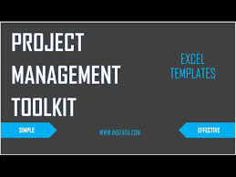 simple project management excel template project management toolkit excel templates introduction youtube