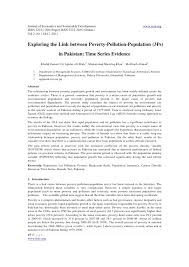 exploring the link between poverty pollution population wwwi journal of economics and sustainable development