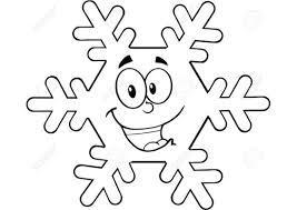 Disegno Di Fiocco Di Neve Per Bambini Piccoli Da Stampare Gratis E