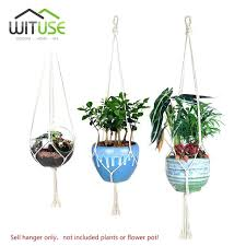 wall plant hanger simple knitted plant hanger hooks flower pots holder hanging indoor outdoor balcony wall wall plant hanger