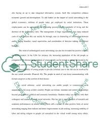 Social Networking Essay The Impact Of Social Networking On Our Daily Lives Essay