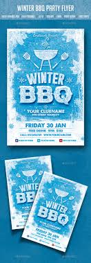 Winter Flyer Template Winter BBQ Party By Creativeartx GraphicRiver 12