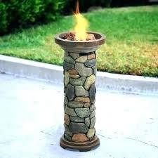 propane fire column propane outdoor fireplace tabletop fire column table bond gas global outdoors faux wood propane fire column backyard