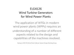 Wind Turbine System Design Wind Turbine Generators For Wind Power Plants