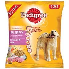 Pedigree Puppy Dog Food With Chicken Milk 100 Grams Trial